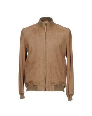 Куртка D'AMICO. Цвет: верблюжий