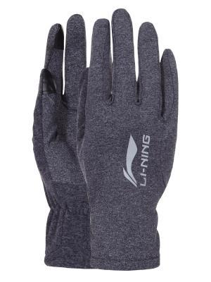 Перчатки LI-NING. Цвет: серый меланж