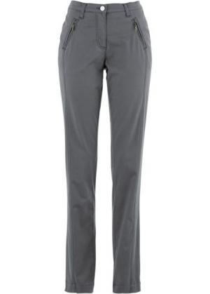 Эластичные брюки Chino (дымчато-серый) bonprix. Цвет: дымчато-серый