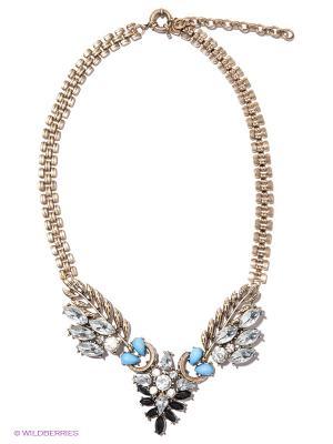 Колье Milana Style. Цвет: голубой