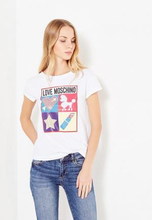 Футболка Love Moschino. Цвет: белый