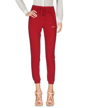 Повседневные брюки HAPPINESS. Цвет: красно-коричневый