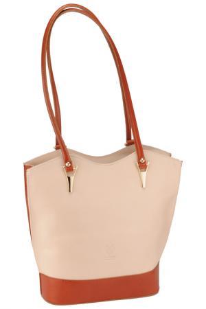 Bag MATILDA ITALY. Цвет: beige and cuoio