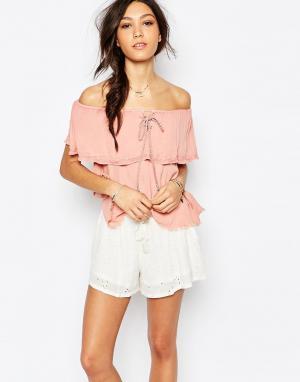 Somedays Пляжная блузка с открытыми плечами Lovin Sweet Lullaby. Цвет: розовый