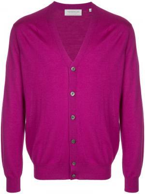 V-neck cardigan Tomorrowland. Цвет: розовый и фиолетовый
