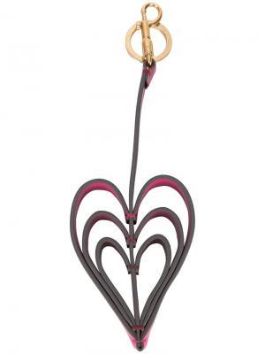 Брелок в форме сердец Anya Hindmarch. Цвет: розовый и фиолетовый