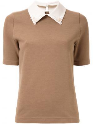 Классическая футболка Muveil. Цвет: коричневый