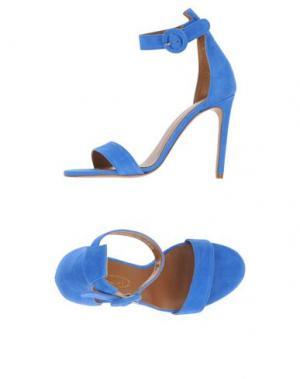 Сандалии BIANCA DI. Цвет: ярко-синий