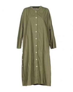 Платье длиной 3/4 PENCE. Цвет: зеленый-милитари