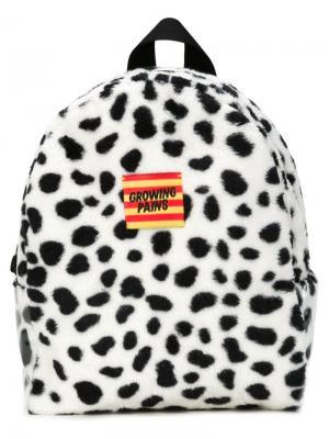 Рюкзак с пятнистым принтом Growing Pains. Цвет: белый