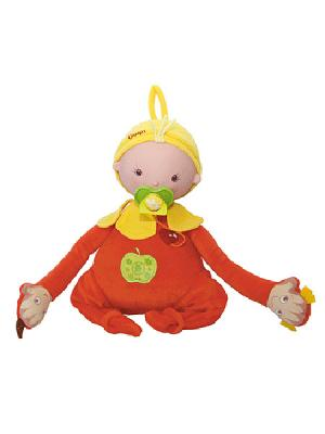 Кукла Сестренка Аленка OUAPS. Цвет: коралловый, желтый