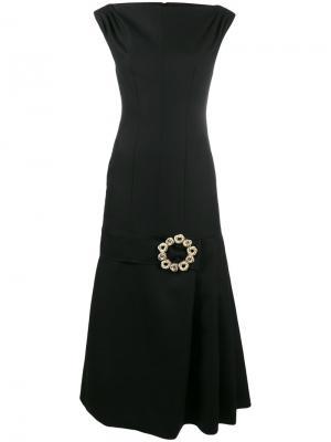 Платье-миди La Robe Claude Longue Jacquemus. Цвет: чёрный