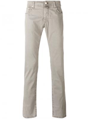 Зауженные джинсы Jacob Cohen. Цвет: телесный