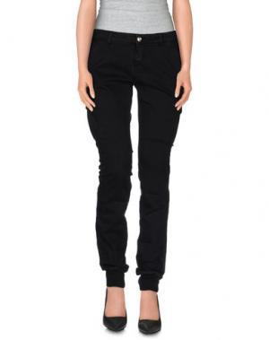 Повседневные брюки DRH. Цвет: черный