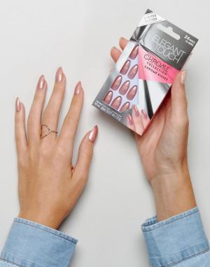 Elegant Touch Накладные ногти-стилеты. Цвет: розовый