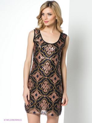 Платье Goddess London. Цвет: коричневый, черный