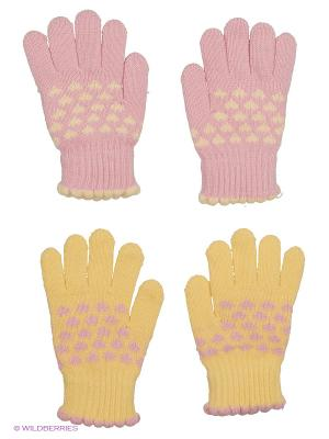 Перчатки, 2 пары FOMAS. Цвет: розовый, желтый, бледно-розовый, светло-желтый