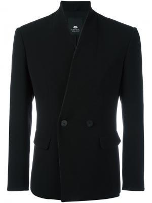 Двубортный пиджак Tom Rebl. Цвет: чёрный