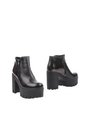Полусапоги и высокие ботинки LORENZO MARI. Цвет: черный