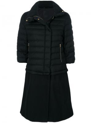 Удлиненное пуховое пальто Tatras. Цвет: чёрный