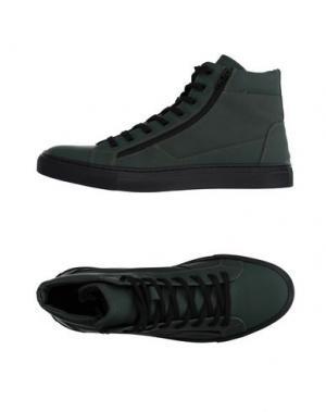 Высокие кеды и кроссовки BAGATT. Цвет: темно-зеленый