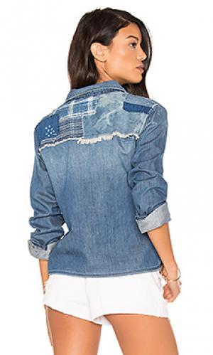 Укороченная рубашка на пуговицах josie Joes Jeans Joe's. Цвет: синий