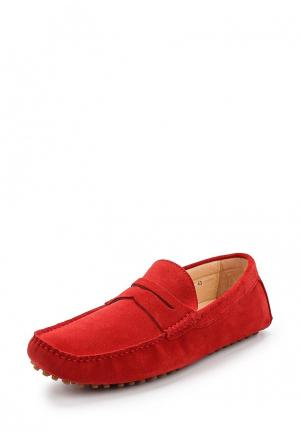 Мокасины Just Couture. Цвет: красный