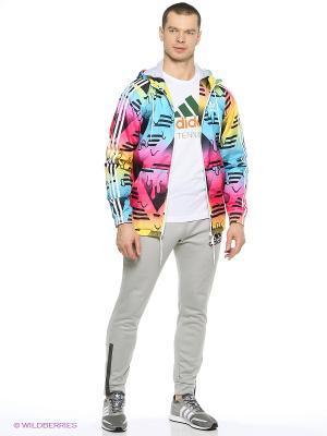 Ветровка ITASCA WB Adidas. Цвет: розовый, белый, синий, желтый