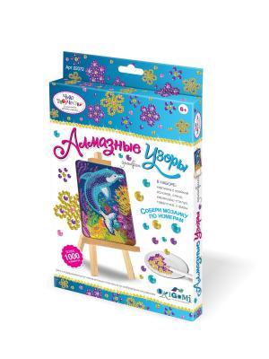 Чудо-творчество. Мозаика-алмазные узоры Дельфин. Чудо-творчество. Цвет: белый, красный, желтый