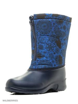 Дутики Дюна. Цвет: голубой, темно-синий