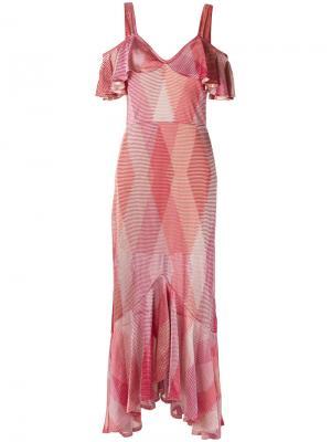 Ruffled gown Cecilia Prado. Цвет: розовый и фиолетовый