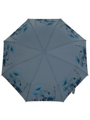 Зонт H.DUE.O. Цвет: голубой, серый