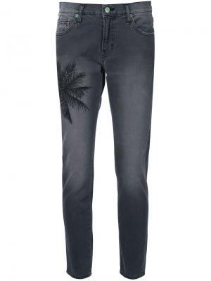 Palm embroidery cropped jeans Sandrine Rose. Цвет: серый