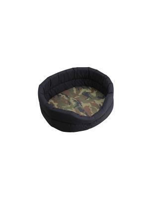 Лежак OUTDOOR камуфляж M 52*43*17 см для собак Happy House. Цвет: хаки