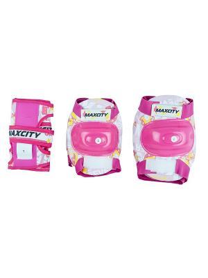 Роликовая защита детская TEDDY MAXCITY. Цвет: розовый