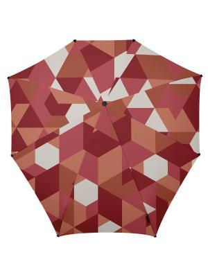 Зонт-автомат senz african red blocks. Цвет: бордовый, рыжий