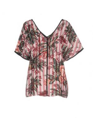 Блузка SHIRTAPORTER. Цвет: красно-коричневый
