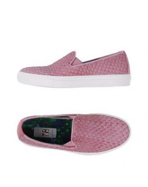 Низкие кеды и кроссовки YAB. Цвет: пастельно-розовый