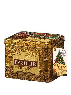 Чай Basilur ПОДАРОК Золотой Gold. Цвет: золотистый, светло-зеленый
