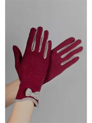 Перчатки Sophie Ramage. Цвет: бордовый
