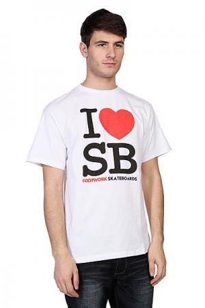 Футболка  I Love Sb White Footwork. Цвет: белый