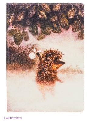 Обложка для паспорта Ежик в тумане Mitya Veselkov. Цвет: коричневый, розовый
