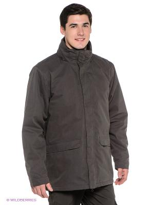 Куртка Trespass. Цвет: серо-зеленый