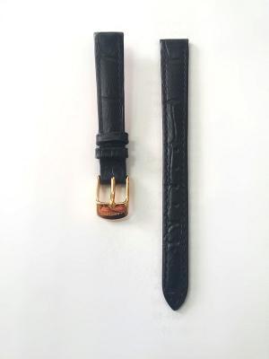 Ремень для часов, им.АЛЛИГАТОРА, черный, 12 х 10 мм J.A. Willson. Цвет: черный