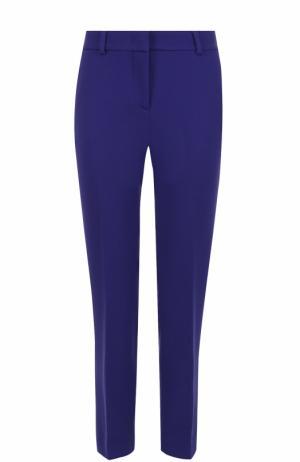 Укороченные брюки прямого кроя со стрелками Emilio Pucci. Цвет: темно-синий