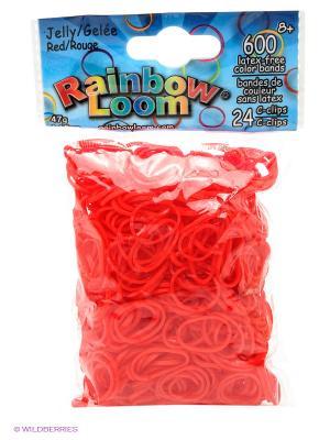 Гелевые резиночки Красный RAINBOWLOOM. Цвет: красный