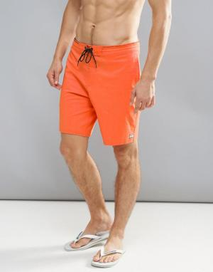 Billabong Оранжевые пляжные шорты All Day 18 дюймов. Цвет: оранжевый