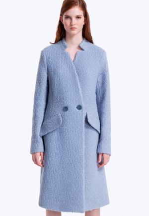 Пальто JN. Цвет: голубой