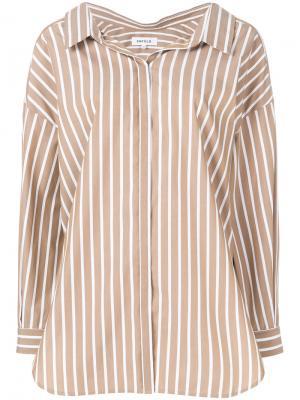 Рубашка в полоску Enföld. Цвет: коричневый