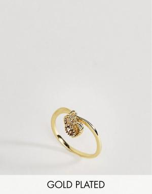 Rock 'N' Rose Кольцо с цитрином. Цвет: золотой